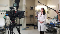 Healthcare video production teleprompter