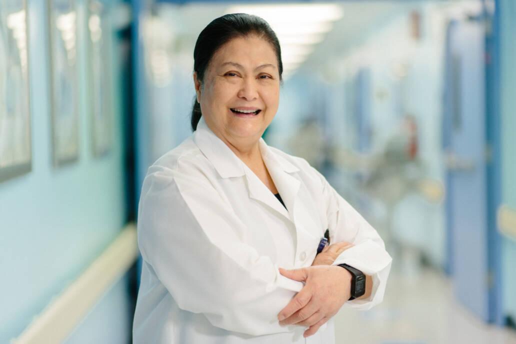Nurse Manager Portrait in Hospital Hallway