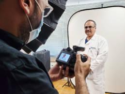 photographing doctor headshots