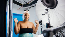 Social Media Influencer Shoots Beauty Product Campaign