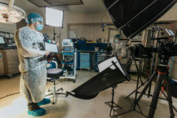 Interview-in-an-operating-room